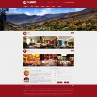 一款红色酒店旅馆网站源码 餐饮酒店通用网站模板