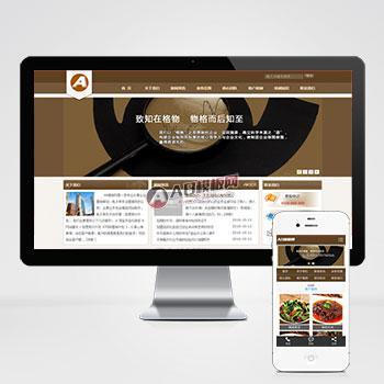 (带手机版数据同步)企业管理类网站源码 财务金融通用企业织梦dedecms模板