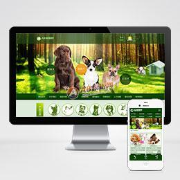 (带手机版数据同步)宠物饲养育种机构网站源码 猫狗宠物机构类网站织梦模板