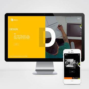 (自适应手机版)响应式平面网页设计类网站模板 高端创意设计公司织梦模板下载